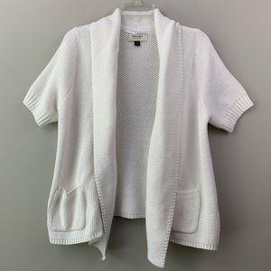 Sonoma open front sweater- white